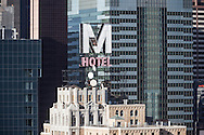 New York , The Milford Hotel and  times square skyline and midtown