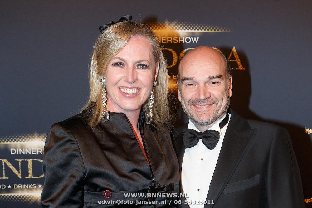 NLD/Hilversum/20151018 - Premiere Studio 21 Pandora, Monique Collignon en partner Jan Henny Holvast