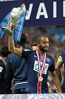 Joie PSG - Lucas MOURA - 30.05.2015 - Auxerre / Paris Saint Germain - Finale Coupe de France<br />Photo : Andre Ferreira / Icon Sport