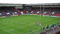 General view of Bristol Rugby v Bath Rugby - Mandatory by-line: Paul Knight/JMP - 26/02/2017 - RUGBY - Ashton Gate - Bristol, England - Bristol Rugby v Bath Rugby - Aviva Premiership