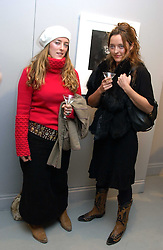Left to right, MISS MARY TEMPERLEY and her sister Fashion designer ALICE TEMPERLEY at a private view of an exhibition of photographs by the late Robert Mapplethorpe curated by artist David Hockney at the Alison Jacques Gallery, 4 Clifford Street, London W1 on 13th January 2005.<br /><br />NON EXCLUSIVE - WORLD RIGHTS