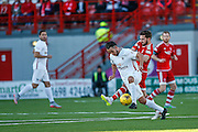during the Ladbrokes Scottish Premiership match between Hamilton Academical FC and Aberdeen at New Douglas Park, Hamilton, Scotland on 22 November 2015. Photo by Craig McAllister.