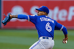 OAKLAND, CA - JULY 15:  Marcus Stroman #6 of the Toronto Blue Jays pitches against the Oakland Athletics during the first inning at the Oakland Coliseum on July 15, 2016 in Oakland, California. (Photo by Jason O. Watson/Getty Images) *** Local Caption *** Marcus Stroman