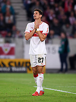 Fussball  1. Bundesliga  Saison 2018/2019  4. Spieltag  VfB Stuttgart - Fortuna Duesseldorf         21.09.2018 Enttaeuschung VfB Stuttgart; Mario Gomez  DFL regulations prohibit any use of photographs as image sequences and/or quasi-video.