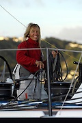 Temenos 2 sailor Michèle Paret as they arrive in Wellington to have the keel inspected. Barcelona World Race. 2/1/2008