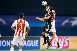 Armin Hodzic #15 of GNK Dinamo Zagreb during football match between GNK Dinamo Zagreb and Olympiakos in Group F of Group Stage of UEFA Champions League 2015/16, on October 20, 2015 in Stadium Maksimir, Zagreb, Croatia. Photo by Urban Urbanc / Sportida