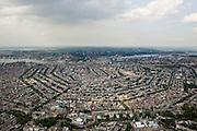Nederland, Noord-Holland, Amsterdam, 17-06-2008; overzicht van de Amsterdamse binnenstad met de volledige 17e eeuws grachtengordel; onder in beeld (vlnr) Leidseplein, casino (met koepel) en voormalige Huis van Bewaring (de Balie) en het Rijksmuseum; centrum van de stad met daar boven het water van het IJ en Amsterdam-Noord; aan de horizon landelijk Noord en Waterland, het IJsselmeer; grachten; NB extra grote versie (A3)..luchtfoto (toeslag); aerial photo (additional fee required); .foto Siebe Swart / photo Siebe Swart