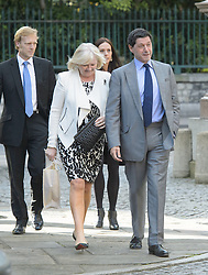 John Sopel arrives for the wedding of Wikipedia founder Jimmy Wales to Tony Blair's former diary secretary, Kate Garvey at Wesley's Chapel, City of  London, October 6, 2012. Photo by Fiona Hanson / i-Images.