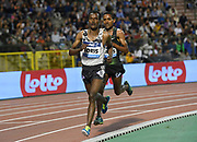 Muktar Edris (ETH) places fourth in the 5,000m in 12:55.18 in the 43nd Memorial Van Damme in an IAAF Diamond League meet at King Baudouin Stadium in Brussels, Belgium on Friday,August 31, 2018. (Jiro Mochizuki/Image of Sport)