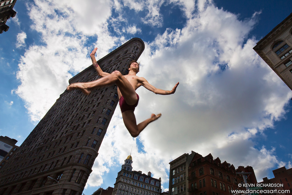 Flatiron Building Dance As Art New York City Photograph with dancer Andy Jacob