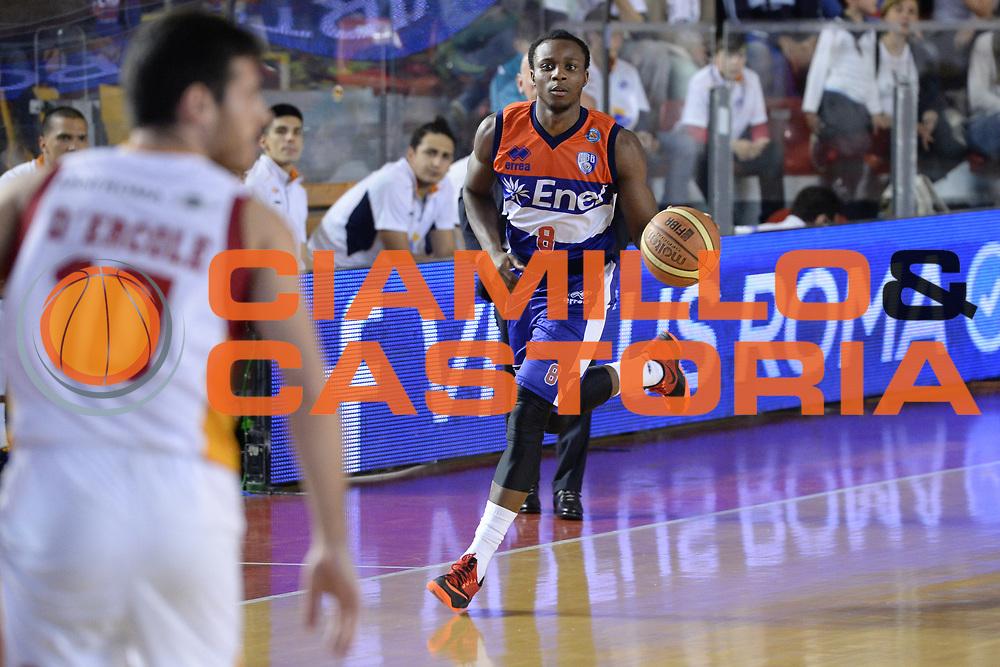 DESCRIZIONE : Roma  Lega A 2014-15 Acea Roma Enel Brindisi <br /> GIOCATORE : Cournooh David Reginald<br /> CATEGORIA : Palleggio<br /> SQUADRA : Enel Brindisi<br /> EVENTO : Campionato Lega A 2014-2015<br /> GARA :Acea Roma Enel Brindisi <br /> DATA : 19/04/2015<br /> SPORT : Pallacanestro<br /> AUTORE : Agenzia Ciamillo-Castoria/M.Longo<br /> Galleria : Lega Basket A 2014-2015<br /> Fotonotizia : Roma  Lega A 2014-15 Acea Roma Enel Brindisi <br /> Predefinita :