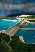 Scale Model, The Three Gorges Dam Project, Yangtze River, China