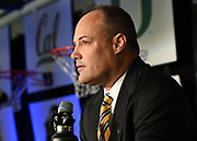 California head coach Mark Fox during Pac-12 Basketball Media Day, Tuesday, Oct. 8, 2019, in San Francisco, Calif. (Dylan Stewart/Image of Sport)