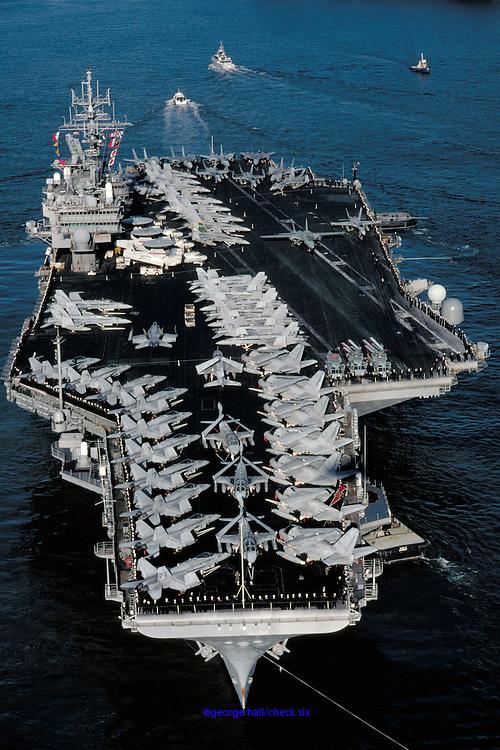 USS Kitty Hawk, CV-63, in Sydney Harbour