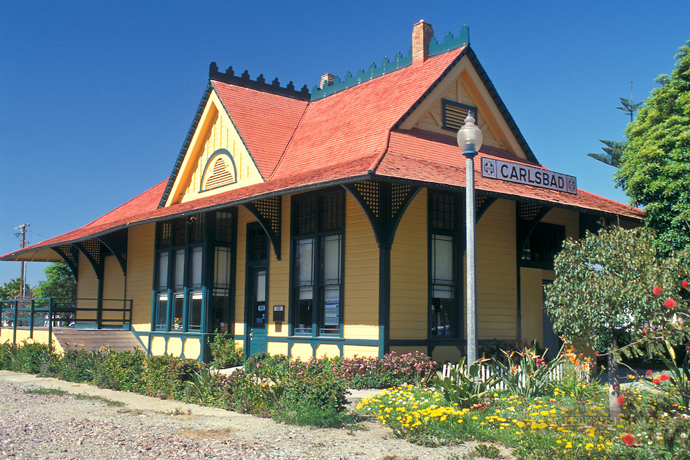 Victorian Train Station+Carlsbad, San Diego County, CALIFORNIA