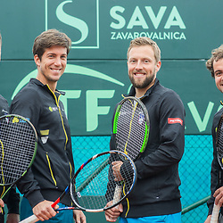 20180404: SLO, Tennis - David Cup Slovenia vs Turkey, Press conference in practice session