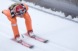 Matti Hautamaeki of Finland competes during Trial round of the FIS Ski Jumping World Cup event of the 58th Four Hills ski jumping tournament, on January 5, 2010 in Bischofshofen, Austria. (Photo by Vid Ponikvar / Sportida)