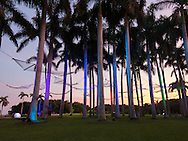 Contemporary art installations at Deering Estate in South Miami, Florida