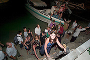 The notorious Full Moon Party at Hat Rin beach on the small Thai island of Ko Pha-Ngan is Asia's biggest regular rave event. All night, people keep arriving by the hundreds on cramped speedboats.