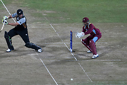 © Licensed to London News Pictures. 01/10/2012. Jacob Oram batting during the T20 Cricket World super 8's match between New Zealand Vs West Indies at the Pallekele International Stadium Cricket Stadium, Pallekele. Photo credit : Asanka Brendon Ratnayake/LNP