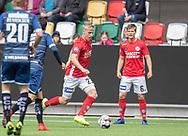 FODBOLD: Jeppe Okkels (Silkeborg IF) med bolden under kampen i NordicBet Ligaen mellem Silkeborg IF og FC Helsingør den 28. april 2019 på JYSK Park i Silkeborg. Foto: Claus Birch