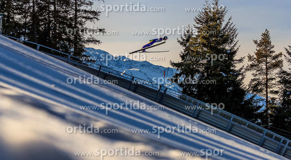 28.01.2017, Casino Arena, Seefeld, AUT, FIS Weltcup Nordische Kombination, Seefeld Triple, Skisprung, im Bild Takehiro Watanabe (JPN) // Takehiro Watanabe of Japan in action during his Trail Jump of Skijumping of the FIS Nordic Combined World Cup Seefeld Triple at the Casino Arena in Seefeld, Austria on 2017/01/28. EXPA Pictures © 2017, PhotoCredit: EXPA/ JFK