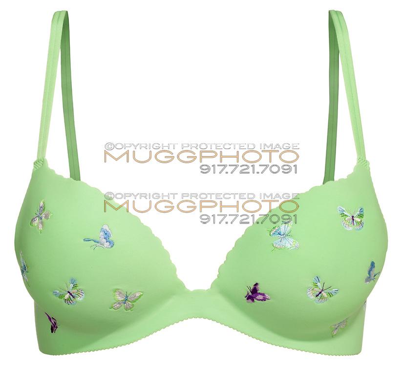 green butterfly bra
