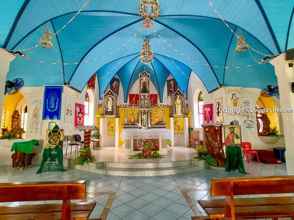 Rotava Catholic Church, Fakarava, Tuamotu Islands, French Polynesia, South Pacific