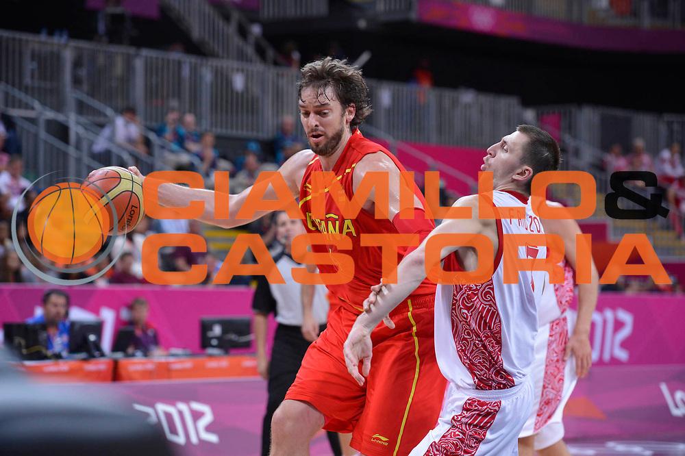 DESCRIZIONE : London Londra Olympic Games Olimpiadi 2012 Men Preliminary Round Russia Spain Russia Spagna<br /> GIOCATORE : Pau GASOL<br /> CATEGORIA : <br /> SQUADRA : Spain Spagna<br /> EVENTO : Olympic Games Olimpiadi 2012<br /> GARA : Russia Spain Russia Spagna<br /> DATA : 04/08/2012<br /> SPORT : Pallacanestro <br /> AUTORE : Agenzia Ciamillo-Castoria/GiulioCiamillo<br /> Galleria : London Londra Olympic Games Olimpiadi 2012 <br /> Fotonotizia : London Londra Olympic Games Olimpiadi 2012 Men Preliminary Round<br /> Russia Spain Russia Spagna<br /> Predefinita :