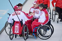Alexander Shevchenko, Svetlana Pakhomova, Andrey Smirnov, Marat Romanov, Wheelchair Curling Semi Finals at the 2014 Sochi Winter Paralympic Games, Russia
