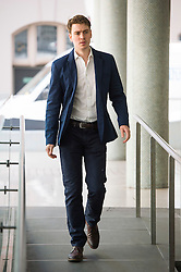 © London News Pictures. 16/05/2015. Euan Blair, son of former British prime minister Tony Blair, arriving at Progress Annual Conference held at TUC Congress House in London to discuss the labour leadership race following a heavy defeat in the recent general election..  Photo credit: Ben Cawthra/LNP