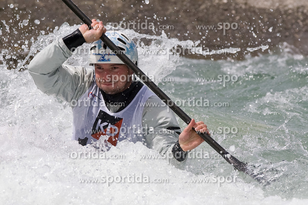Janos Peterlin of Slovenia competes in the Men's Kayak K1 at Kayak & Canoe ICF slalom race Tacen 2010 on May 16, 2010 in Tacen, Ljubljana, Slovenia. (Photo by Vid Ponikvar / Sportida)