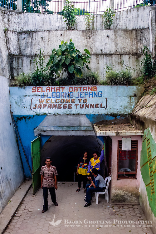 West Sumatra, Bukittinggi. Lobang Jepang (Japanese Caves) is a network of underground bunkers & tunnels built by the Japanese during World War II.