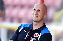 Reading Manager Jaap Stam smiles on arrival at Swindon Town for the preseason friendly against Swindon Town ahead of the Sky Bet Championship season - Mandatory by-line: Robbie Stephenson/JMP - 19/07/2016 - FOOTBALL - County Ground - Swindon, England - Swindon Town v Reading - Pre-season friendly