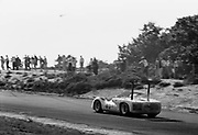 Phil Hill in Chaparral 2E during model's debut race, the 1966 Bridgehampton Can-Am; PHOTO BY Pete Lyons 1966 / © 2014 Pete Lyons/www.petelyons.com