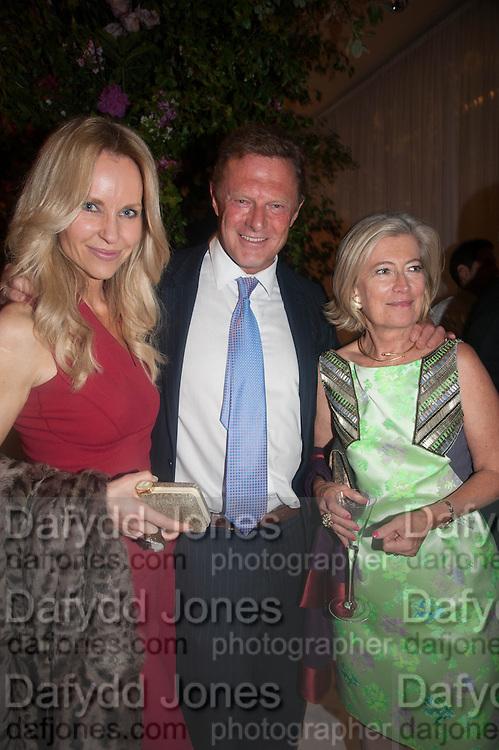 SABINA MCTAGGART;LORD ANTONY ST. JOHN;  ANN SINGER, The Cartier Chelsea Flower show dinner. Hurlingham club, London. 20 May 2013.