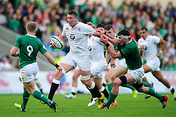 Stan South of England U20 takes on the Ireland U20 defence - Mandatory byline: Patrick Khachfe/JMP - 07966 386802 - 25/06/2016 - RUGBY UNION - AJ Bell Stadium - Manchester, England - England U20 v Ireland U20 - World Rugby U20 Championship Final 2016.