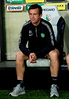 30/07/14 UEFA CHAMPIONS LEAGUE THIRD ROUND QUALIFIER FIRST LEG<br /> LEGIA WARSAW V CELTIC<br /> PEPSI ARENA - WARSAW<br /> Celtic manager Ronny Deila sits in the dugout.