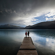 The final pulse of a storm passing over Muncho Lake, northern British Columbia