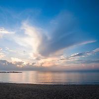 The beach at sunrise, Tanjong Jara Resort, Terengganu, Malaysia.