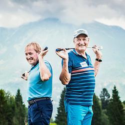 20190902: SLO, Alpine Ski - Bojan Krizaj and Franz Klammer at golf course Bled