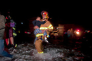 Even hardened NYC firefighters showed signs of shock and awe in what may be New York City's worst flood in history. Jonah Markowitz/Falcon Photo Agency