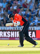 Joe Root of England batting during the International T20 match between England and Australia at Edgbaston, Birmingham, United Kingdom on 27 June 2018. Picture by Graham Hunt.