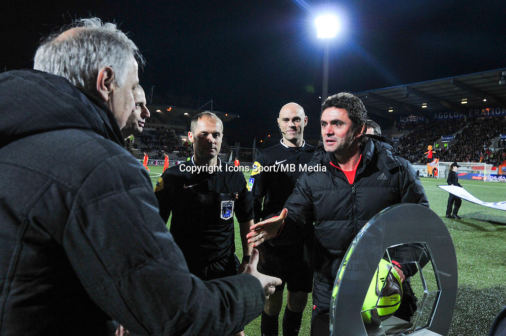 Sylvain Ripoll / Rene Girard  - 17.01.2015 - Lorient / Lille - 21eme journee de Ligue 1 <br /> Photo : Phillipe Le Brech / Icon Sport