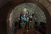 A crypt in the Templo de Nuestra Señora del Sagrario church in Santa Clara del Cobre, Michoacan, Mexico.