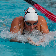 16 November 2017: The San Diego State women's swim team competes in the 2017 A3 Performance Invitational held at the SDSU Aquaplex. SDSU freshman Rachel Cunningham competes in the 200 yard IM.<br /> www.sdsuaztecphotos.com