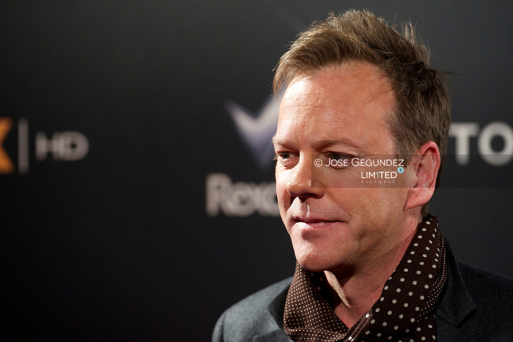 US Actor Kiefer Sutherland attends the  'Touch' Photocall at Capitol Cinema in Madrid, Spain