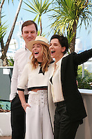 Actor Lars Eidinger, Actress Juliette Binoche and Actress Chloé Grace Moretz  at the photo call for the film Sils Maria at the 67th Cannes Film Festival, Friday 23rd May 2014, Cannes, France.