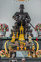 King Naresuan Shrine at Wat Yai Chai Mongkhon Ayutthaya Bangkok Thailand
