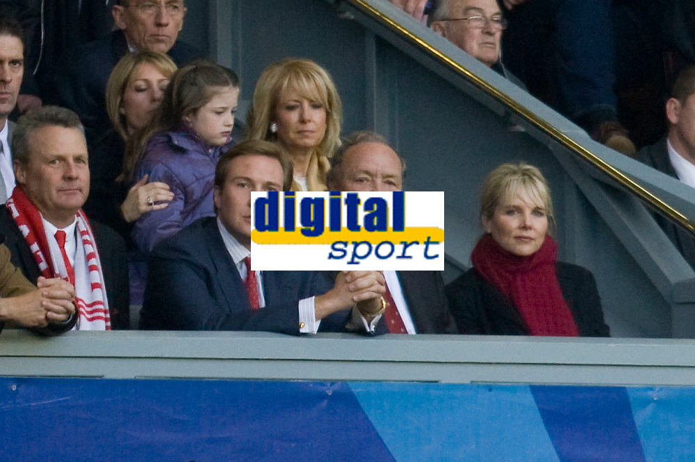 LIVERPOOL, ENGLAND - Tuesday, April 22, 2008: Liverpool's co-owner Tom Hicks and son Tom Hicks Junior during the UEFA Champions League Semi-Final 1st Leg match against Chelsea at Anfield. (Photo by David Rawcliffe/Propaganda)